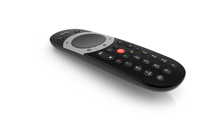 sky q touch remote on white
