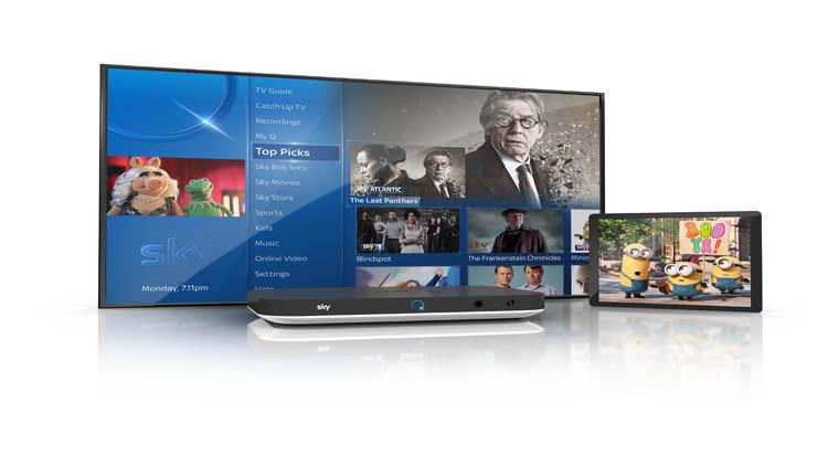 tv sky q silver ui tablet content